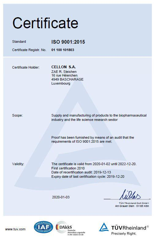 Click to download our certificate ISO 9001